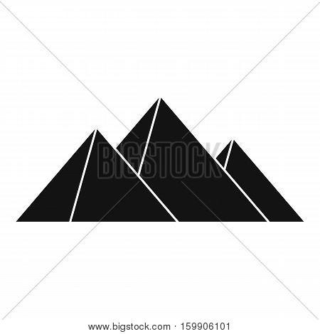 Pyramids icon. Simple illustration of pyramids vector icon for web