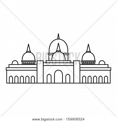 Sheikh Zayed mosque, Abu Dhabi icon. Outline illustration of Sheikh Zayed mosque, Abu Dhabi vector icon for web