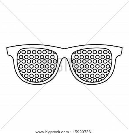 Pinhole glasses icon. Outline illustration of pinhole glasses vector icon for web