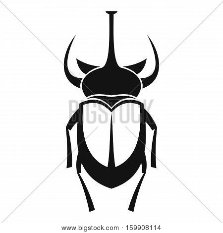 Weevil beetle icon. Simple illustration of beetle vector icon for web