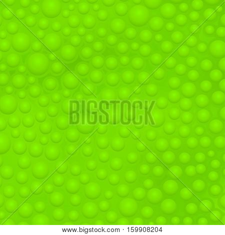 illustration of green color slime with bubbles background