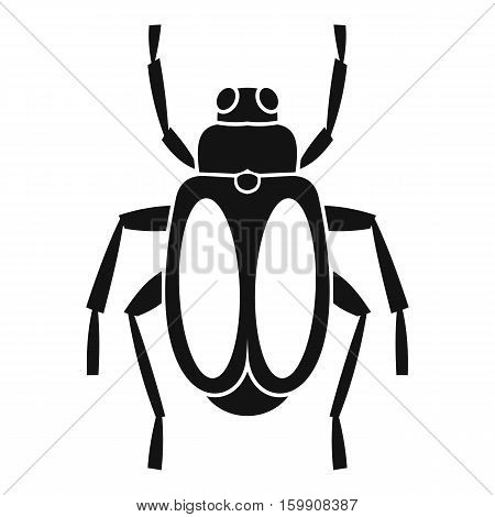 Dung beetle icon. Simple illustration of dung beetle vector icon for web