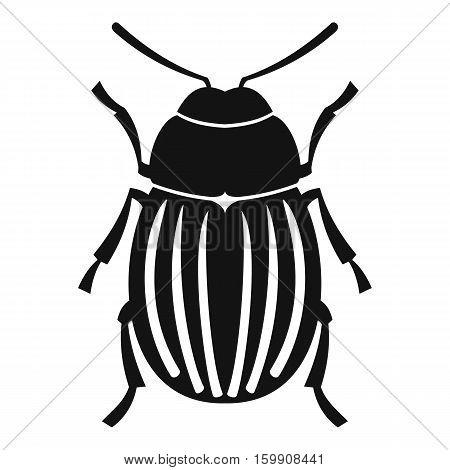 Colorado potato beetle icon. Simple illustration of colorado potato beetle vector icon for web