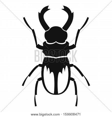 Rhinoceros beetle icon. Simple illustration of rhinoceros beetle vector icon for web