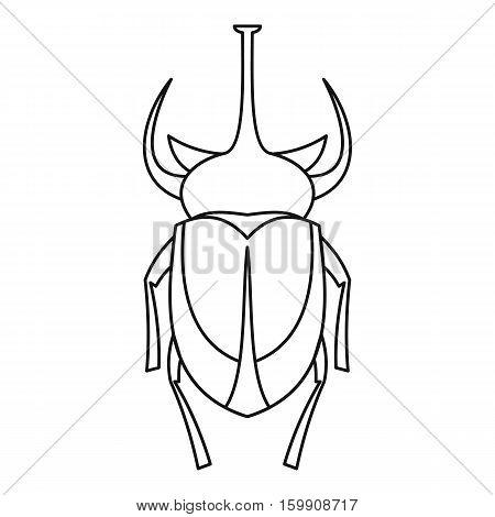 European rhinoceros beetle icon. Outline illustration of european rhinoceros beetle vector icon for web