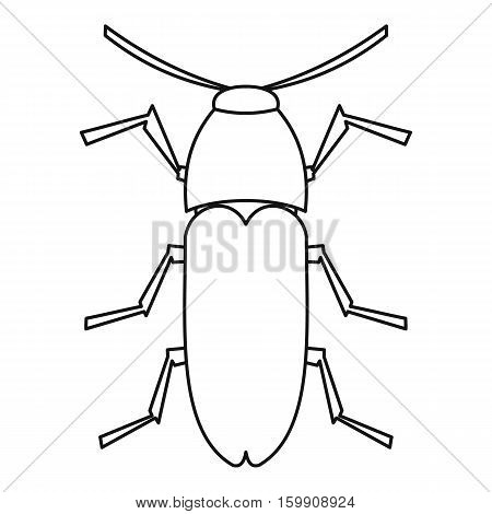 Dung beetle icon. Outline illustration of dung beetle vector icon for web