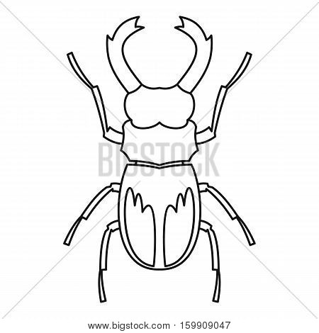 Rhinoceros beetle icon. Outline illustration of rhinoceros beetle vector icon for web