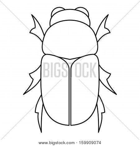 Chafer beetle icon. Outline illustration of chafer beetle vector icon for web