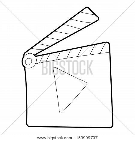 Slapstick icon. Outline illustration of slapstick vector icon for web