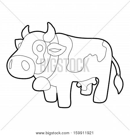 Cow icon. Outline illustration of cow vector icon for web