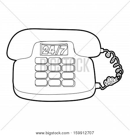 Phone icon. Outline illustration of phone vector icon for web