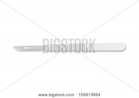 Scalpel blade isolated on white background. Vector object.