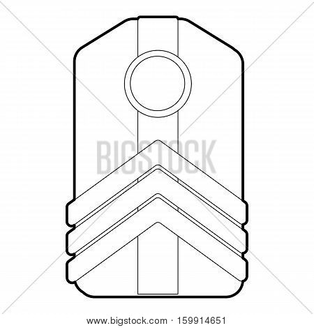 Shoulder straps icon. Outline illustration of shoulder straps vector icon for web