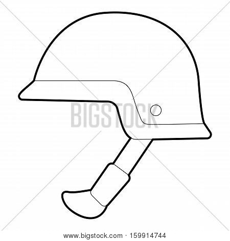 Soldier helmet icon. Outline illustration of soldier helmet vector icon for web
