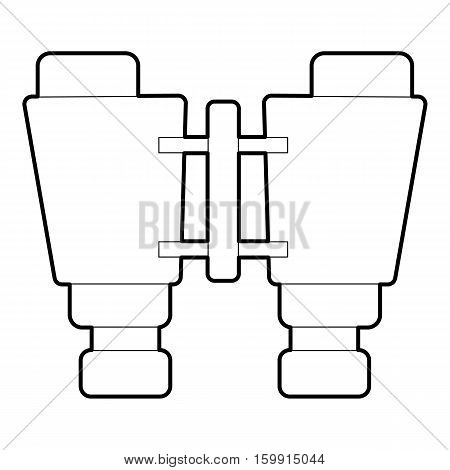 Binocular icon. Outline illustration of binocular vector icon for web