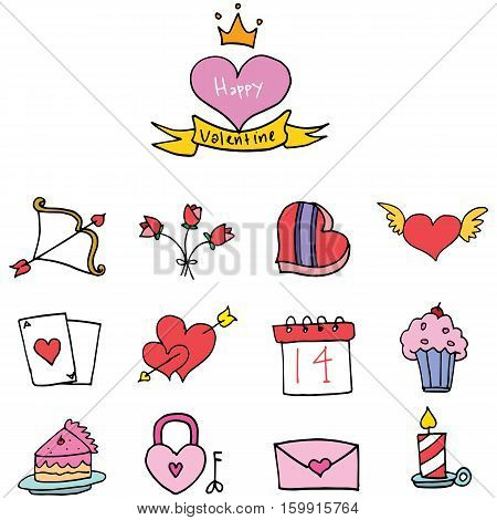 Illustration of valentine days collection stock vector