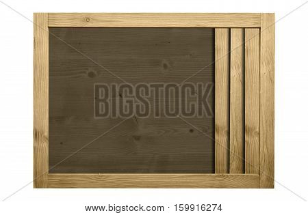 Wooden frame for decorative text and image. Vintage color concept.