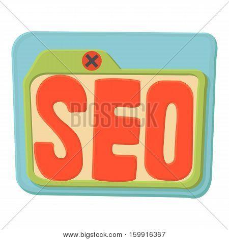 Seo icon. Cartoon illustration of seo vector icon for web