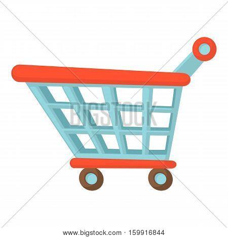 Shopping cart icon. Cartoon illustration of shopping cart vector icon for web
