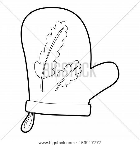 Mitten icon. Outline illustration of mitten vector icon for web