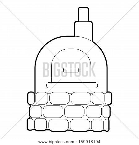 Oven icon. Outline illustration of oven vector icon for web