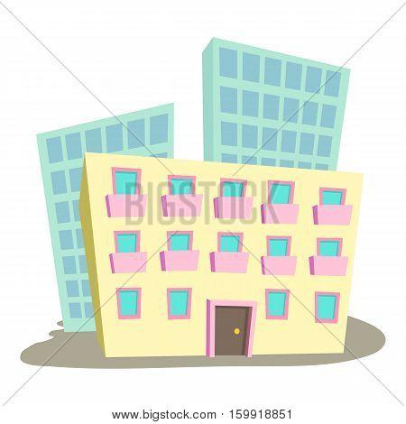 Administrative building icon. Cartoon illustration of administrative building vector icon for web