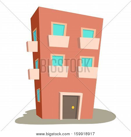 Dwelling house icon. Cartoon illustration of dwelling house vector icon for web