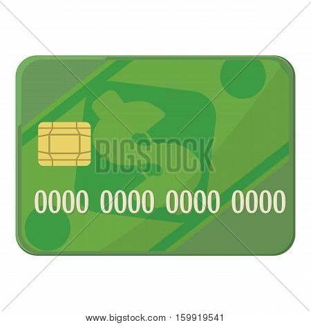 Credit card icon. Cartoon illustration of credit card vector icon for web