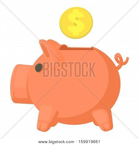 Money box icon. Cartoon illustration of money box vector icon for web