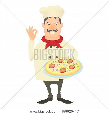 Italy chef icon. Cartoon illustration of italy chef vector icon for web