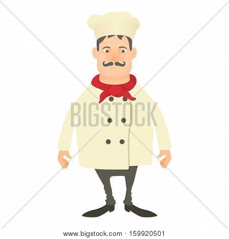 Smiling chef icon. Cartoon illustration of smiling chef vector icon for web