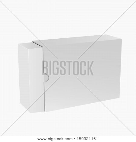 White Package Box Mockup For Your Design Eps 10 Vector