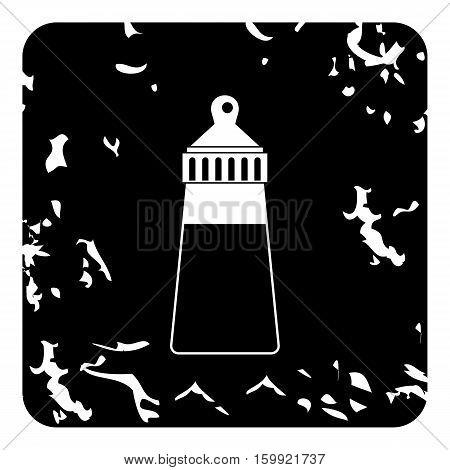 Bottle with nipple icon. Grunge illustration of bottle with nipple vector icon for web
