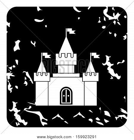 Royal castle icon. Grunge illustration of royal castle vector icon for web