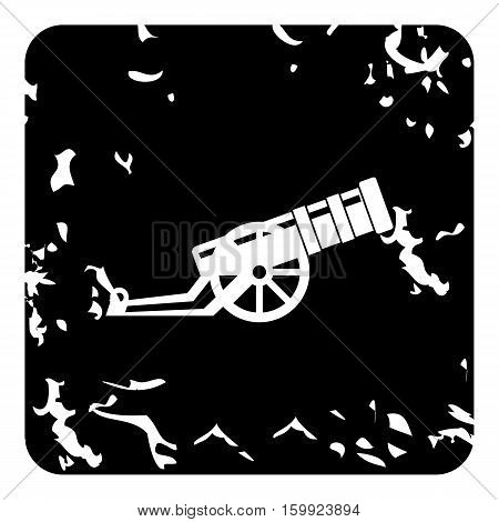 Medieval military throwing gun icon. Grunge illustration of medieval military throwing gun vector icon for web
