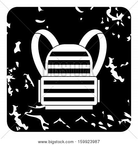 Backpack icon. Grunge illustration of backpack vector icon for web