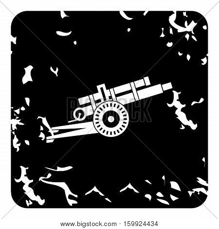 Military gun icon. Grunge illustration of military gun vector icon for web