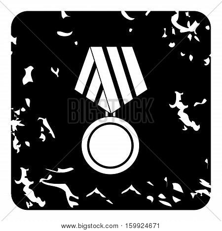 Medal of honor icon. Grunge illustration of medal of honor vector icon for web