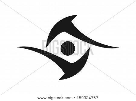 Tribal Simple Eye Logo or Tattoo Design