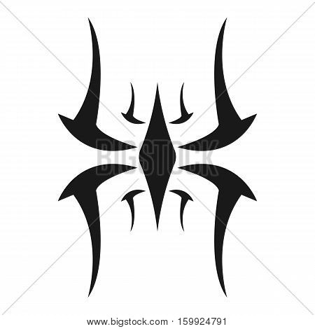 Tribal Bug or Insect Silhouette Logo or Tattoo Design