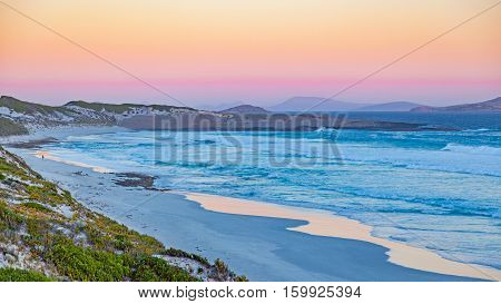 Twilight at Fourth Beach, near the town of Esperance in Western Australia.