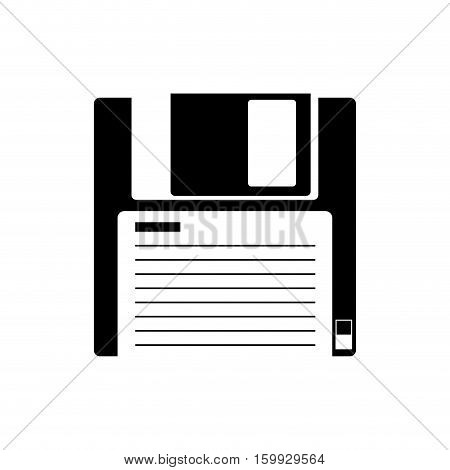 Diskette icon. Technology media data and information heme. Isolated design. Vector illustration