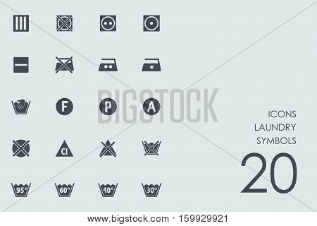 laundry symbols vector set of modern simple icons