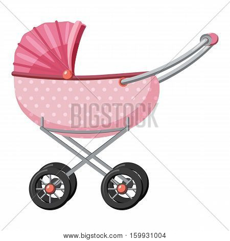 Children stroller icon. Cartoon illustration of children stroller vector icons for web
