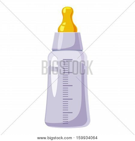 Bottle with nipple icon. Cartoon illustration of bottle with nipple vector icons for web
