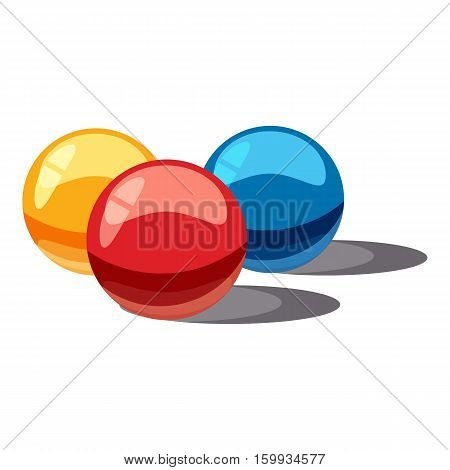 Balls for paintball icon. Cartoon illustration of balls for paintball vector icon for web