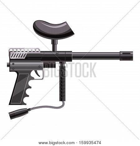 Loaded gun for paintball icon. Cartoon illustration of loaded gun for paintball vector icon for web