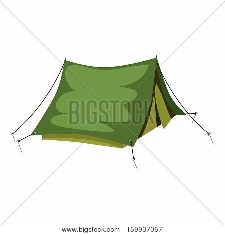Tent icon. Cartoon illustration of tent vector icon for web