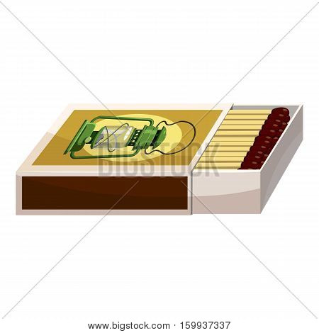 Box of matches icon. Cartoon illustration of box of matches vector icon for web