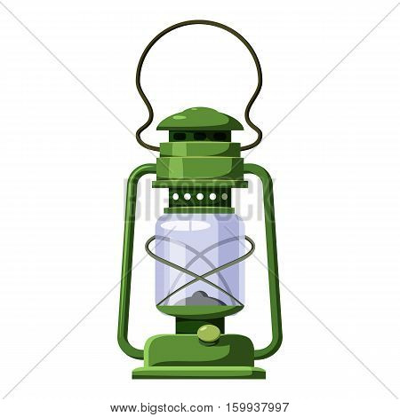 Kerosene lamp icon. Cartoon illustration of kerosene lamp vector icon for web